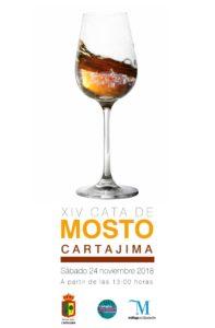 Cartel de la Cata del Mosto de Cartajima 2018.