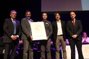 De izquierda a derecha, José María Losantos, Javier Almellones, Ricardo Pastor, Sergio Cruz y Javier Salas.