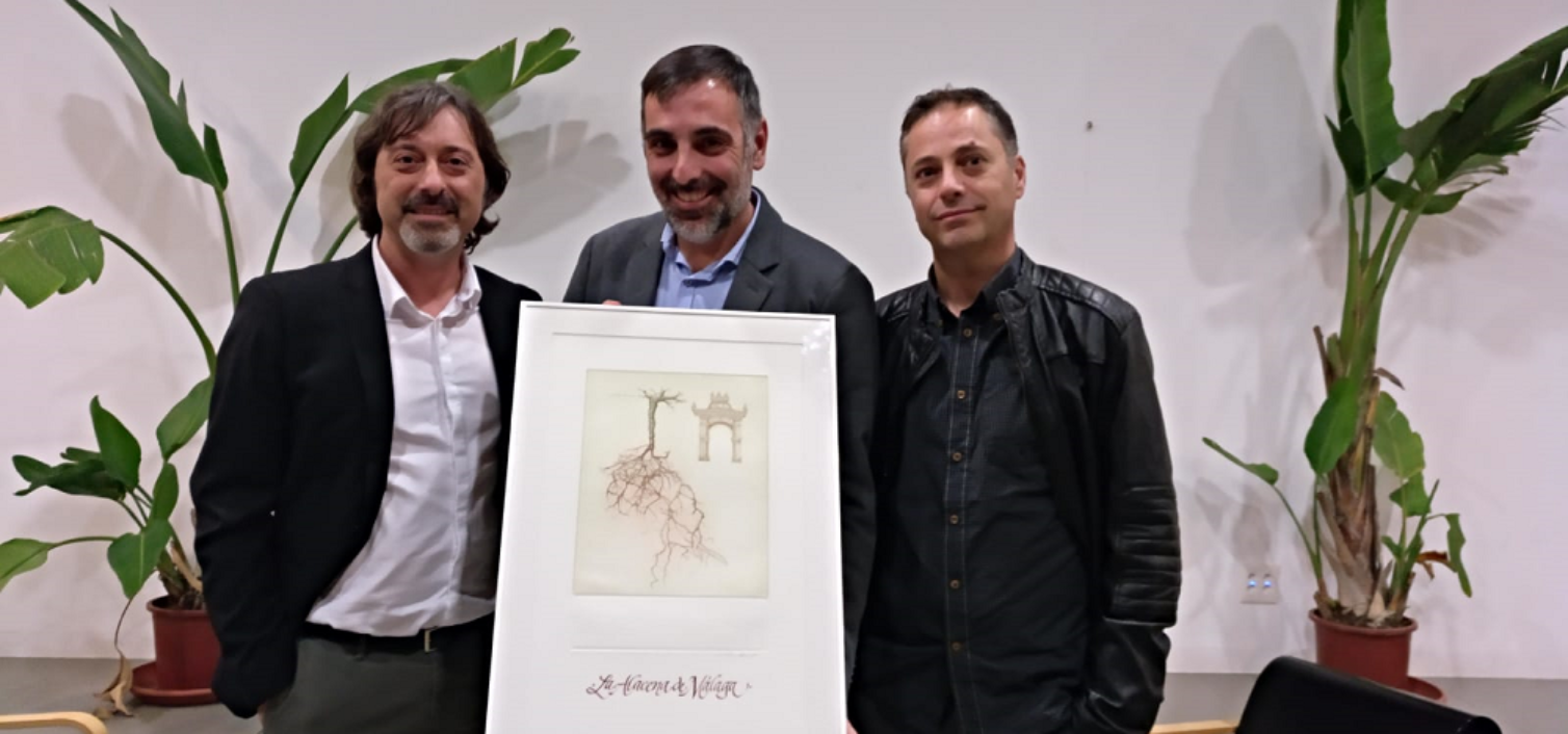 De izquierda a derecha, Sergio Cruz, Javier Almellones y Ricardo Pastor, integrantes de La Alacena de Málaga