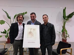 De izquierda a derecha, Sergio Cruz, Javier Almellones y Ricardo Pastor, integrantes de La Alacena de Málaga.