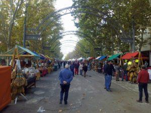 La Feria del Jamón y de los Productos Derivados del Cerdo  se celebra en el Parque José María Hinojosa.
