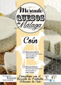 Cartel del Mercado de Quesos Artesanos de Málaga de Coín.