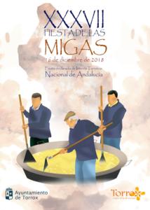 Cartel de la Fiesta de las Migas de Torrox 2018.