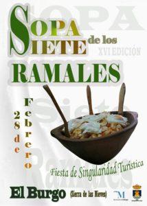 Cartel de la Fiesta de la Sopa de los Siete Ramales 2019.