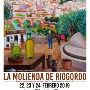 Cartel de La Molienda de Riogordo 2019.