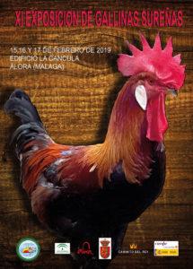 Cartel de la Exposición de Gallinas Sureñas en Álora.