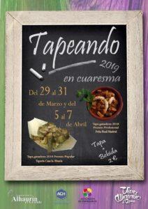Cartel de Tapeando en Cuaresma 2019.