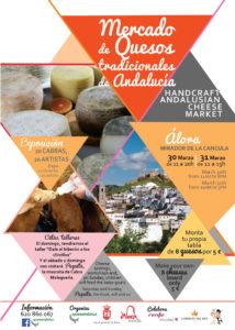 Cartel del Mercado de Queso Tradicionales Andaluces 2019.