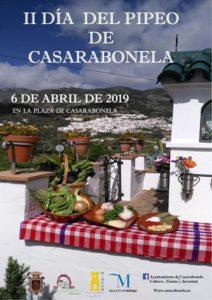 Cartel del Día del Pipeo de Casarabonela 2019.