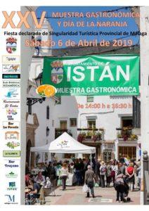 Cartel de la Muestra Gastronómica y Día de la Naranja 2019.