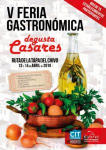Cartel de Degusta Casares 2019.