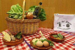Ingredientes de la receta del pipeo de Casarabonela.
