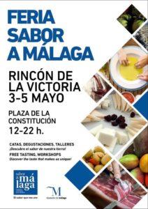 Cartel de la Feria comarcal de Sabor a Málaga en Rincón de la Victoria.