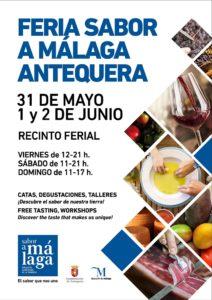 Cartel de la Feria de Sabor a Málaga en Antequera.