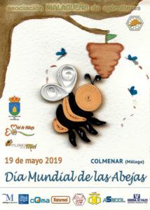 Cartel del Día Mundial de las Abejas en Colmenar.