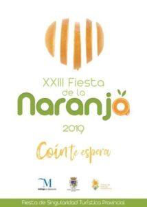 Cartel de la Fiesta de la Naranja de Coín 2019.
