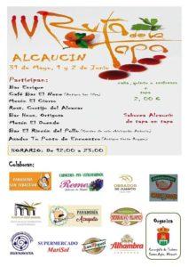 Cartel de la Ruta de la Tapa de Alcaucín 2019.