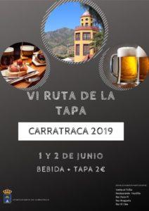 Cartel de la Ruta de la Tapa de Carratraca 2019.