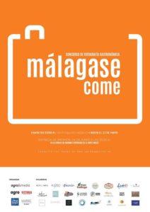 Cartel del V Concurso de Fotografía Gastronómica Málaga Se Come.