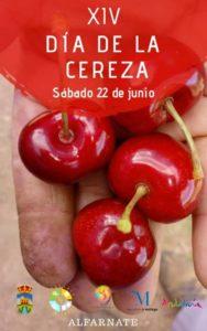 Cartel del Día de la Cereza de Alfarnate 2019