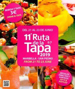 Cartel de la Ruta de la Tapa de Marbella y San Pedro 2019.