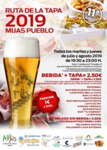 Cartel de la Ruta de la Tapa de Mijas 2019.