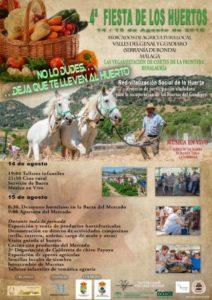Fiesta de los Huertos de Benalauría 2019..
