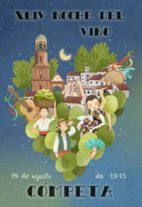 Cartel de la Noche del Vino de Cómpeta 2019.