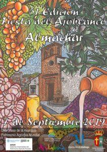 Cartel de la Fiesta del Ajoblanco 2019.