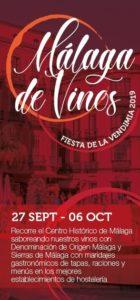 Cartel de la Ruta de Málaga de Vinos 2019.
