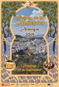 Cartel del Día de la Almendra en Almogía 2019.