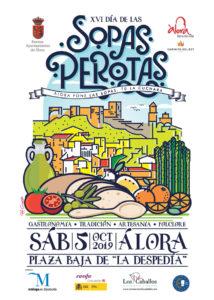 Cartel del Día de las Sopas Perotas 2019 (Álora).