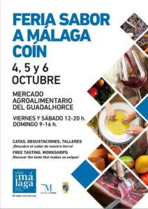 Cartel de la Feria Sabor a Málaga 2019 en Coín.
