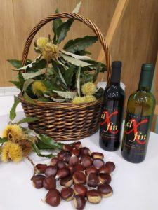 Castañas y vinio mosto del Porfín.