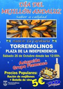 Cartel del Día del Mejillón en Torremolinos 2019.