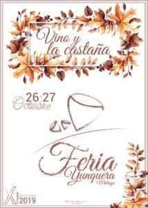 Cartel de la Feria del Vino y la Castaña 2019.