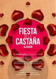 Cartel de la Fiesta de la Castaña de Alcaucín 2019.