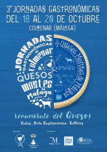 Cartel de las Jornadas Gastronómicas Quesos Montes de Málaga 2019.