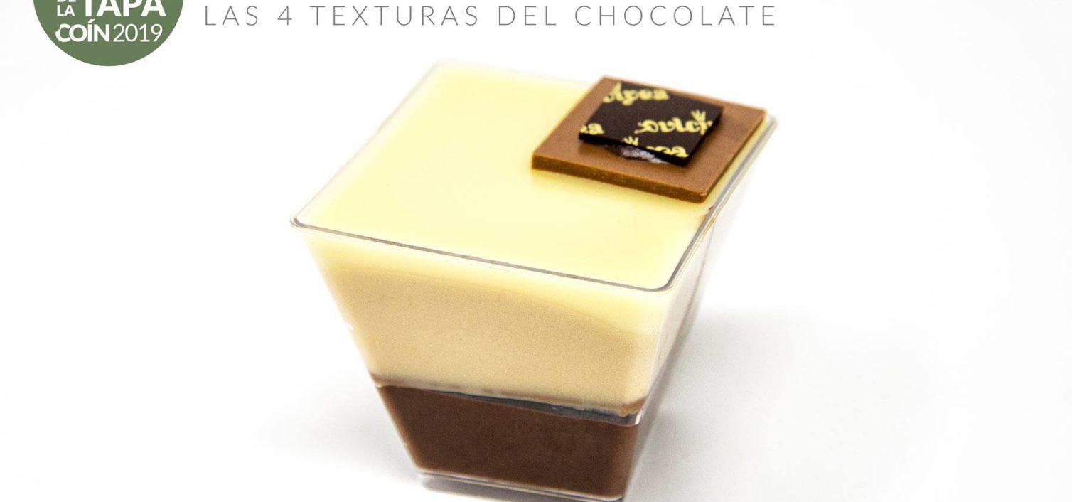 Las 4 Texturas del Chocolate (Pastelería Bombonería Dulcinea).