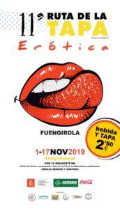 Cartel de la Ruta de la Tapa Erótica de Fuengirola 2019.