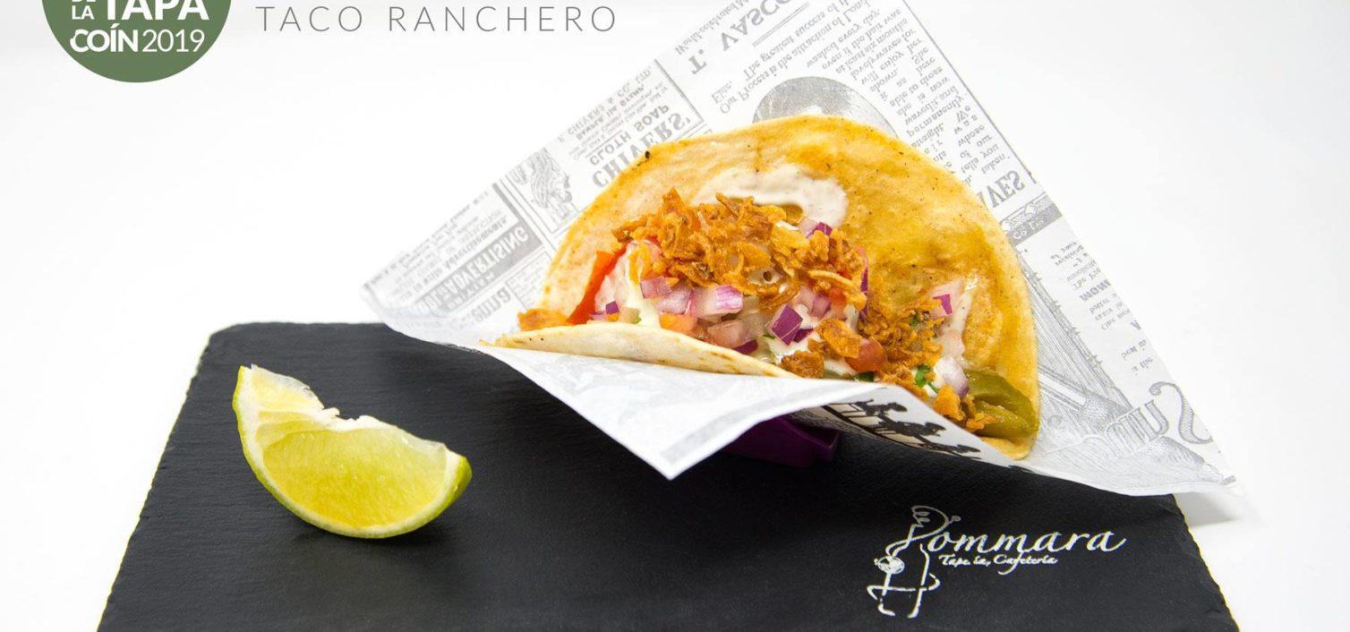 Taco Ranchero Relleno de Carne de Ternera, Verduritas Salteadas y Pico de Gallo con el Toque de Nuestra Salsa (Jommara).