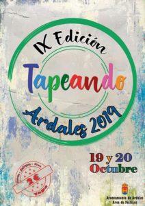 Cartel de Tapeando en Ardales 2019.