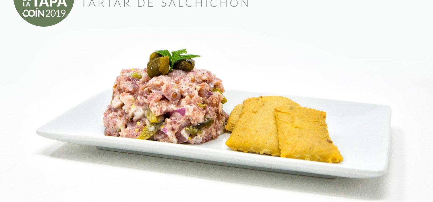 Tartar de Salchichón de Peña, Encurtidos de Coín y Mayonesa ( Venta Casa Pedro Lucena)