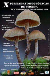 Cartel de las Jornadas Micológicas de Monda 2019.