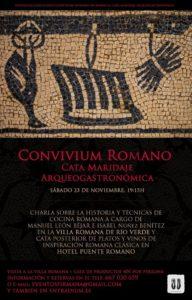 Cartel de cata de vinos y quesos de emperadores romanos.