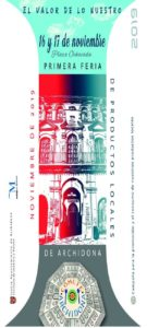 Cartel de la Feria de Productos Locales de Archidona.