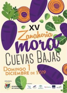 Cartel de la Fiesta de la Zanahoria Morá 2019.