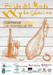 Cartel de la Fiesta del Mosto y la Chacina de Colmenar 2019.