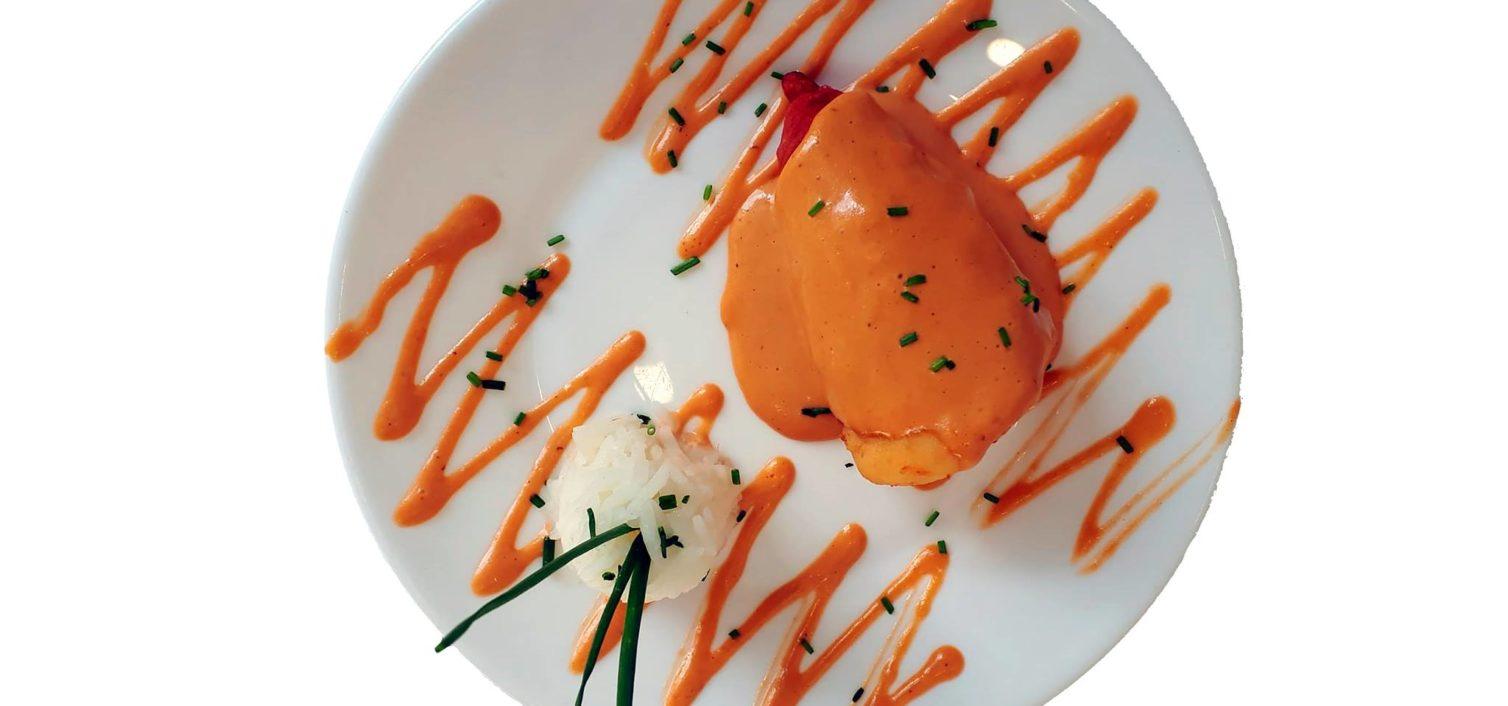 Tapa de Restaurante Bar El Rubio, ubicado en calle Alcalde Juan Barranquero. Piquillo relleno con sabor a mar