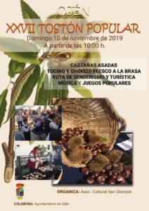 Cartel del Tostón Popular 2019.
